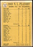 1970 Topps #196   -  Ken Boswell / Art Shamsky / Ed Kranpool 1969 NL Playoff - Game 2 - Mets Show Muscle Back Thumbnail