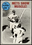1970 Topps #196   -  Ken Boswell / Art Shamsky / Ed Kranpool 1969 NL Playoff - Game 2 - Mets Show Muscle Front Thumbnail
