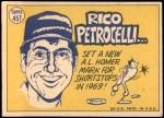 1970 Topps #457   -  Rico Petrocelli All-Star Back Thumbnail