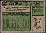 1974 Topps #262  Ed Kirkpatrick  Back Thumbnail