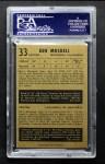 1953 Parkhurst #33  Ken Mosdell  Back Thumbnail
