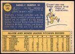 1970 Topps #146  Danny Murphy  Back Thumbnail
