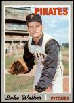 1970 Topps #322  Luke Walker  Front Thumbnail