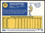 2019 Topps Heritage #485 A Mike Trout  Back Thumbnail