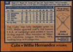 1978 Topps #99  Willie Hernandez  Back Thumbnail