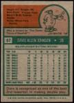 1975 Topps #57  Davey Johnson  Back Thumbnail