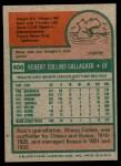 1975 Topps #406  Bob Gallagher  Back Thumbnail