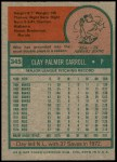 1975 Topps #345  Clay Carroll  Back Thumbnail
