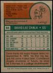 1975 Topps #64  Dave Chalk  Back Thumbnail