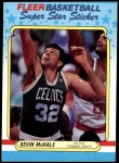 1988 Fleer Stickers #9  Kevin McHale  Front Thumbnail