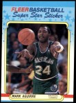 1988 Fleer Stickers #1  Mark Aguirre  Front Thumbnail
