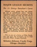 1935 Schutter-Johnson #13  George Earnshaw  Back Thumbnail