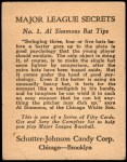 1935 Schutter-Johnson #1  Al Simmons  Back Thumbnail