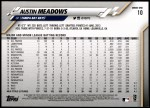 2020 Topps #10  Austin Meadows  Back Thumbnail