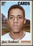 1970 Topps #675  Jose Cardenal  Front Thumbnail