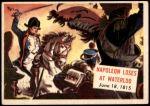 1954 Topps Scoop #115 xCOA  Napoleon Loses At Waterloo Front Thumbnail