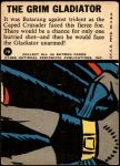 1966 Topps Batman Blue Bat Puzzle Back #7   The Grim Gladiator Back Thumbnail