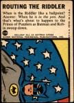 1966 Topps Batman Blue Bat Puzzle Back #22   Routing the Riddler Back Thumbnail