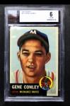 1953 Topps #215  Gene Conley  Front Thumbnail