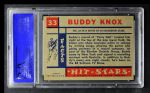 1957 Topps Hit Stars #33  Buddy Knox   Back Thumbnail