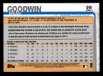 2019 Topps #640  Brian Goodwin   Back Thumbnail