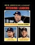 2020 Topps Heritage #69   -  Eduardo Rodriguez / Justin Verlander / Gerrit Cole League Leader Front Thumbnail