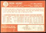 1964 Topps #235  Ron Hunt  Back Thumbnail