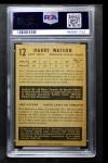 1953 Parkhurst #12  Harry Watson  Back Thumbnail