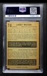 1953 Parkhurst #74  Larry Wilson  Back Thumbnail