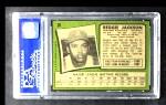 1971 Topps #20  Reggie Jackson  Back Thumbnail