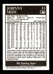 1991 Conlon #53  Johnny Mize  Back Thumbnail