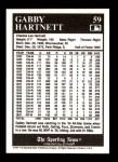 1991 Conlon #59  Gabby Hartnett  Back Thumbnail