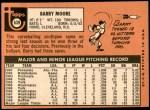 1969 Topps #639  Barry Moore  Back Thumbnail