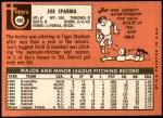 1969 Topps #488  Joe Sparma  Back Thumbnail