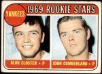 1969 Topps #114   -  Alan Closter / John Cumberland Yankees Rookies   Front Thumbnail