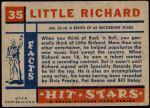 1957 Topps Hit Stars #35  Little Richard  Back Thumbnail