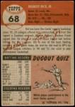 1953 Topps #68  Del Rice  Back Thumbnail