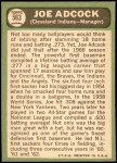 1967 Topps #563  Joe Adcock  Back Thumbnail