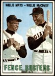 1967 Topps #423   -  Willie Mays / Willie McCovey Fence Busters Front Thumbnail