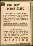 1967 Topps #222   -  Lee May / Darrell Osteen Reds Rookies Back Thumbnail
