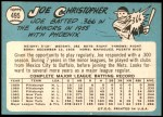 1965 Topps #495  Joe Christopher  Back Thumbnail