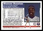 1995 Topps #214  Shawon Dunston  Back Thumbnail