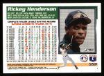 1995 Topps #559  Rickey Henderson  Back Thumbnail