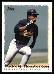 1995 Topps #559  Rickey Henderson  Front Thumbnail