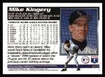 1995 Topps #615  Mike Kingery  Back Thumbnail