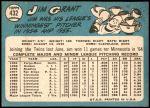 1965 Topps #432  Mudcat Grant  Back Thumbnail