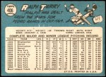 1965 Topps #406  Ralph Terry  Back Thumbnail