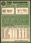 1967 Topps #519  Ted Davidson  Back Thumbnail