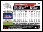 2006 Topps #20  Bobby Abreu  Back Thumbnail