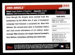 2006 Topps #280   Los Angeles Angels Team Back Thumbnail